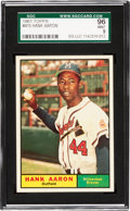 Baseball Cards:Singles (1960-1969), 1961 Topps Hank Aaron #415 SGC 96 Mint 9 - The Finest SGC Example!...