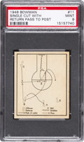 "Basketball Cards:Singles (Pre-1970), 1948 Bowman #11 ""Single Cut With Return Pass To Post"" PSA Mint 9 -None Higher. ..."