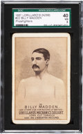 "Boxing Cards:General, 1887 N269 Lorillard's ""Prizefighters"" Billy Madden #22 SGC 40 VG3...."