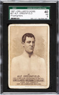 "Boxing Cards:General, 1887 N269 Lorillard's ""Prizefighters"" Alf. Greenfield #27 SGC 40 VG3...."