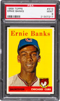 Baseball Cards:Singles (1950-1959), 1958 Topps Ernie Banks #310 PSA Mint 9 - None Higher. ...