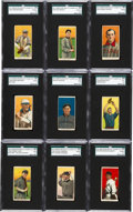 Baseball Cards:Lots, 1909-11 T206 American Beauty SGC Graded Collection (9) With FourHoFers. ...