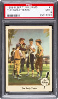 "Baseball Cards:Singles (1950-1959), 1959 Fleer Ted Williams ""The Early Years"" #1 PSA Mint 9...."