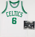 "Basketball Collectibles:Uniforms, Bill Russell ""11x NBA Champ"" Signed Boston Celtics Jersey andPhotograph...."