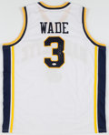 Basketball Collectibles:Uniforms, Dwyane Wade Signed Marquette Golden Eagles Jersey. ...