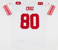"""Football Collectibles:Uniforms, Victor Cruz Signed """"SB XLVI Champs"""" Signed New York Giants Jersey...."""