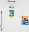 Basketball Collectibles:Uniforms, Chris Paul Signed New Orleans Hornets Jersey and Photograph....