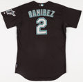 Baseball Collectibles:Uniforms, 2008 Hanley Ramirez Game Worn, Signed Florida Marlins Jersey....