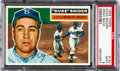 Baseball Cards:Singles (1950-1959), 1956 Topps Duke Snider, Gray Back #150 PSA Mint 9....