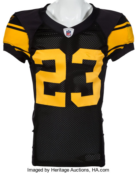 2009 Tyrone Carter Game Worn Pittsburgh Steelers Throwback