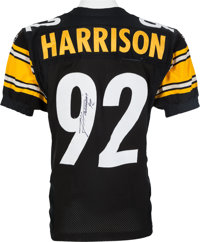 on sale 64a92 d4f29 2010 James Harrison Game Worn, Signed Pittsburgh Steelers ...