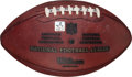 Football Collectibles:Balls, 2007 Game Used Football From Adrian Peterson's NFL Record 296 Yard Rushing Game....