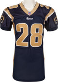 Football Collectibles:Uniforms, 2001 Marshall Faulk Game Worn St. Louis Rams Jersey - With Four Repairs. ...