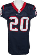 Football Collectibles:Uniforms, 2009 Steve Slaton Game Worn, Signed Houston Texans Jersey - Worn 10/11 Vs. Arizona....