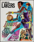 """Movie Posters:Sports, L.A. Lakers Basketball (ProMotions Inc., 1972). Posters (2) (23"""" X 29""""). Sports.. ... (Total: 2 Items)"""