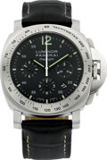 Timepieces:Wristwatch, Panerai Luminor Chrono Daylight Steel PAM00250, circa 2008. ...