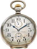 Timepieces:Pocket (post 1900), Elgin 21 Jewel Father Time Sterling U.S. Navy Deck Watch, circa1910. ...