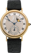 Timepieces:Wristwatch, Breguet No. 5184, Ref. 3130 Very Fine Astronomic Gent's AutomaticWith Power Reserve, Date & Moon Phase, circa 1990. ...