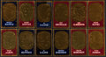 Baseball Cards:Lots, 1965 Topps Embossed and 1969 Stamp Albums Collection (197). ...
