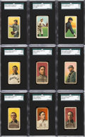 Baseball Cards:Lots, 1909-11 T206 Hindu (Brown) Cigarettes SGC Graded Collection (9)With HoFers and Southern Leaguers. ...