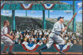 Baseball Collectibles:Others, Babe Ruth Original Oil Painting....