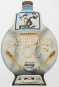 Baseball Collectibles:Others, 1969 Jim Beam Baseball's 100th Anniversary Whiskey Decanter....