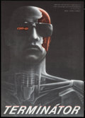 "Movie Posters:Science Fiction, The Terminator (Orion, 1984). Czech Poster (11"" X 15.5""). ScienceFiction.. ..."