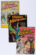 Golden Age (1938-1955):Science Fiction, Strange Adventures #20, 24, and 34 Group (DC, 1952-53) Condition:Average GD/VG.... (Total: 3 Comic Books)