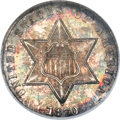 Three Cent Silver, 1870 3CS MS66 NGC....