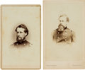 Photography:CDVs, Union Generals Joseph Roswell Hawley and William Denison Whipple Cartes de Visite....