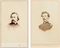 Photography:CDVs, Union Generals Milo Smith Hascall and Charles Robert WoodsCartes de Visite....
