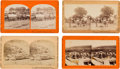 Photography:Stereo Cards, Lot of Four Stereoview Photographs With Scenes of the Civil War.... (Total: 4 )
