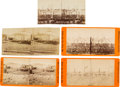 Photography:Stereo Cards, Lot of Four Stereoview Photographs of Fort Sumter From the Photographic History of the War For the Union Series.... (Total: 5 )