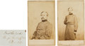Photography:CDVs, Union General John Buford Clipped Signature with Two Cartes de Visite.... (Total: 3 )