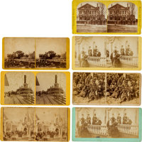 Ulysses S. Grant and Traveling Party Stereoviews (Seven)