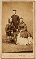 Photography:CDVs, George, Libbie, and Tom Custer Carte de Visite....