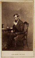 Photography:CDVs, Abraham Lincoln Carte de Visite, 1863....