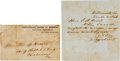 Autographs:Military Figures, Jefferson Davis Autograph Letter Signed on March 3, 1863, withEnvelope.... (Total: 2 )