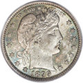 Barber Quarters, 1899 25C MS66 PCGS. CAC....
