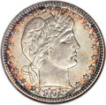 Barber Quarters, 1905 25C MS66 NGC. CAC....