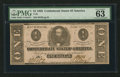 Confederate Notes:1862 Issues, T55 $1 1862 PF-7 Cr. Cr. 398.. ...