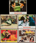 "Movie Posters:Academy Award Winners, Gone with the Wind (MGM, R-1954/R-1961/R-1968). Title Lobby Card& Lobby Cards (4) (11"" X 14""). Academy Award Winners.. ...(Total: 5 Items)"