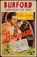 "Movie Posters:Action, The Hurricane (United Artists, 1937). Window Card (14"" X 22"").Action.. ..."