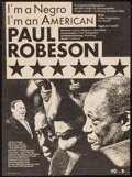"""Movie Posters:Documentary, I'm a Negro I'm an American (DEFA, 1990). German A3 (11.25"""" X 15.25""""). Documentary.. ..."""