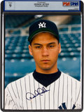 Autographs:Photos, Circa 1996 Derek Jeter Rookie-Era Signed Photograph, PSA/DNA Mint9....