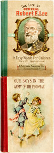 Books:Children's Books, [Children's Books]. [Civil War]. Pair of Civil War RelatedChildren's Books. Various publisher's and dates. Publisher'spict... (Total: 2 Items)