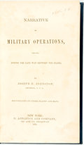 Books:Americana & American History, [Civil War]. Joseph E. Johnston. Narrative of MilitaryOperations, Directed, During the Late War Between the States....