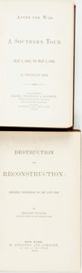 Books:Americana & American History, [Reconstruction]. Pair of Early First Editions on Reconstruction.Various publishers, 1866, 1879. Twelvemo and octavo. Publi...(Total: 2 Items)