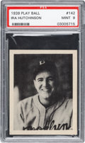 Baseball Cards:Singles (1930-1939), 1939 Play Ball Ira Hutchinson #142 PSA Mint 9 - Pop Two, NoneHigher! ...