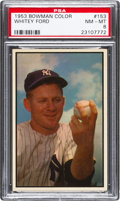 Baseball Cards:Singles (1950-1959), 1953 Bowman Color Whitey Ford #153 PSA NM-MT 8....
